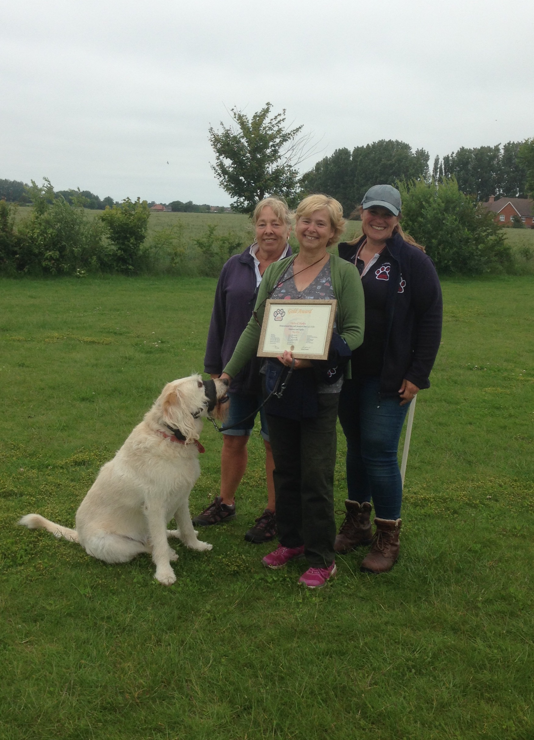 Gold award for Vicky and Harley!
