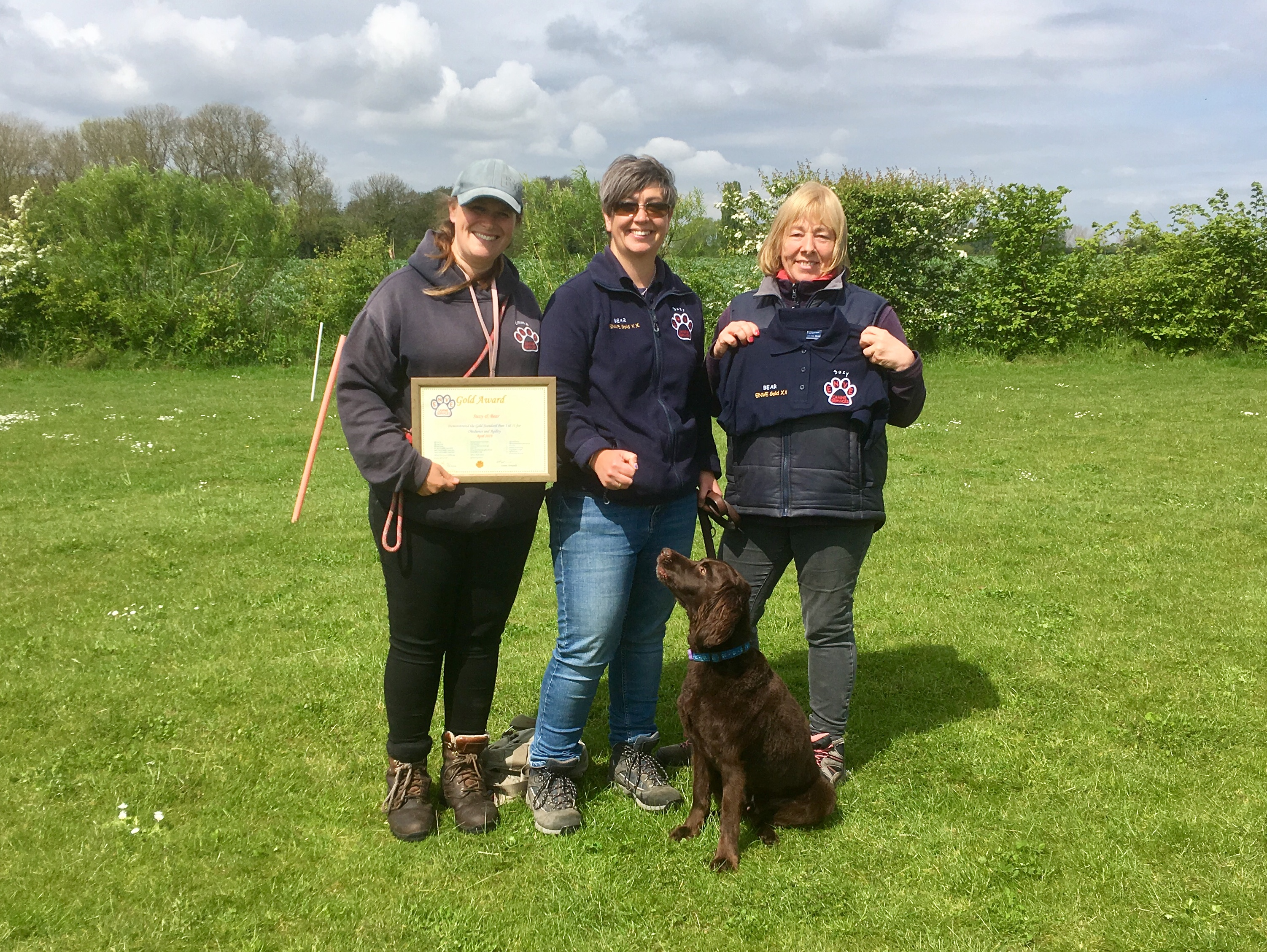 Gold Award for Suzy and Bear
